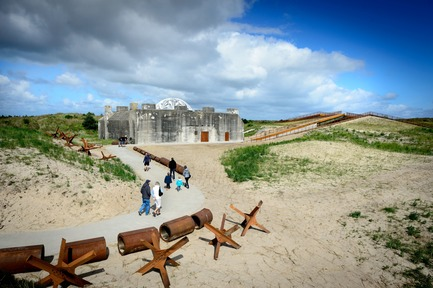 Press kit | 1997-04 - Press release | TIRPITZ, a 'Hidden Museum' on Danish West Coast - BIG - Bjarke Ingels Group and Tinker imagineers - Event + Exhibition - TIRPITZ is an antithesis to the heavy volume of the WWII bunker of the Atlantic Wall - Photo credit: Mike Bink Photography
