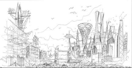 Dossier de presse | 661-40 - Communiqué de presse | World Architecture Festival Announces Architecture Drawing Prize - World Architecture Festival (WAF) - Competition - Crédit photo :         Above: London in 2145 by Ken Shuttleworth, Make Architects (2015)