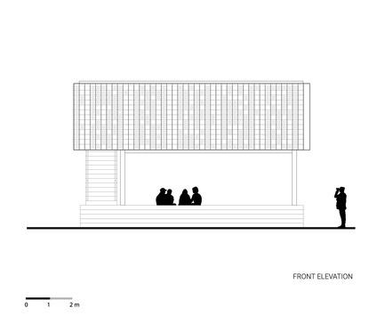 Dossier de presse | 2560-01 - Communiqué de presse | 'Microlibrary Bima': 2000-Ice-Cream-Bucket-Project - SHAU - Institutional Architecture - Front elevation of Microlibrary Bima - Crédit photo : SHAU