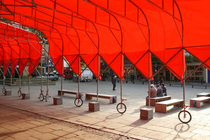 Press kit | 809-21 - Press release | AZURE Reveals the Winners of the 2017 AZ Awards - AZURE - Competition -  People's Canopy, Various Locations<br> People's Architecture Office, Beijing, China<br>Best Temporary & Demonstration Architecture -2017 AZ Awards  - Photo credit: AZURE
