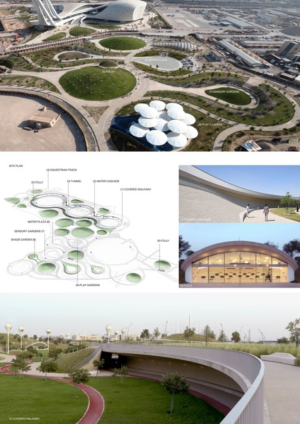 Press kit | 2404-02 - Press release | Oxygen Park, Education City, Doha - Qatar Foundation, AECOM - Institutional Architecture - Project Presentation Board 2 - Photo credit: AECOM (photo credit: Markus Elblaus)
