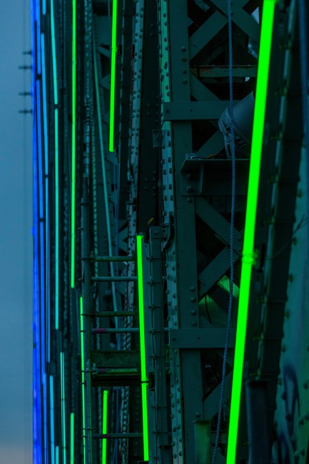 Press kit | 1089-02 - Press release | Illumination of the Jacques-Cartier Bridge | Creating the World's Most Connected Bridge - Moment Factory - Multimedia Design - Jacques Cartier Bridge Interactive Illumination_LED Technology - Photo credit: The Jacques Cartier and Champlain Bridges Incorporated (JCCBI)