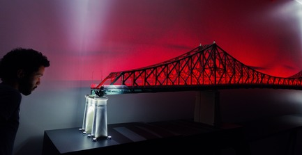 Press kit | 1089-02 - Press release | Illumination of the Jacques-Cartier Bridge | Creating the World's Most Connected Bridge - Moment Factory - Multimedia Design - Jacques Cartier Bridge Interactive Illumination_Behind The Scenes - Photo credit: Moment Factory
