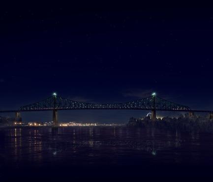 Dossier de presse | 1089-02 - Communiqué de presse | Illumination du pont Jacques-Cartier | Le pont le plus connecté au monde - Moment Factory - Design multimédia - Illumination interactive du pont Jacques-Cartier(Rendu)_Spectacle de l'heure_Intro<br>QUAND : À CHAQUE HEURE PILE, DÈS LA NUIT TOMBÉE<br>Le pont traduit les données montréalaises collectées tout au long de la journée en une série d'animations visuelles. Puisant dans une grande variété de sources de données, incluant la météo, le trafic, les nouvelles et les médias sociaux, chaque spectacle est mis à jour en temps réel et totalement unique. Un contenu évolutif qui fait du pontJacques-Cartier un baromètre de la vie montréalaise.<br>   - Crédit photo : Moment Factory