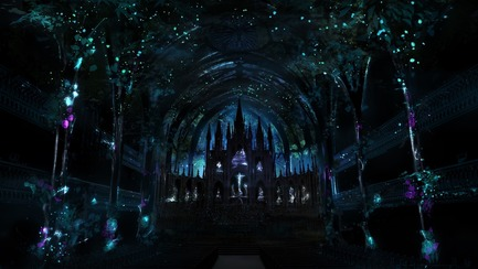 Press kit | 1089-03 - Press release | AURA Creates Awe-Inspiring Experience in the Heart of a Celebrated Historic Cathedral - Moment Factory - Multimedia Design - Aura_Process_Render_Storyboard - Photo credit: Moment Factory