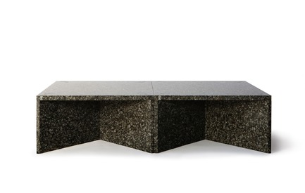 "Dossier de presse | 990-05 - Communiqué de presse | Out with Marble: KAYIWA Proves That Granite Has Always Been ""In"" - KAYIWA - Produit - NZELA Coffee Tables - Baltic Green - Crédit photo : KAYIWA"