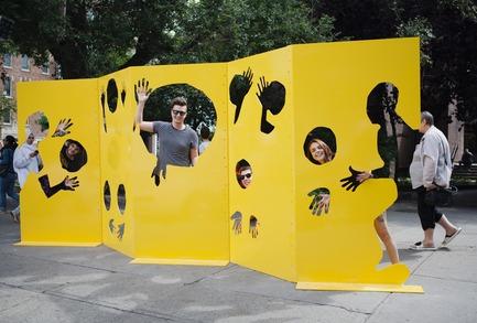 Press kit | 583-18 - Press release | KM3 :Un nouvel événement d'art public dans le Quartier des spectacles - Partenariat du Quartier des spectacles - Évènement + Exposition -  Human Playground - Milan Gervais et Hubert Lafore - Lubies pour gens à pied  - Photo credit: Cindy Boyce