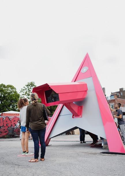 Press kit | 583-18 - Press release | KM3:A New Public Art Event in the Quartier des Spectacles - Quartier des spectacles Partnership - Event + Exhibition -  Ensemble ensemble, The Compassion Machine  - Photo credit:  Cindy Boyce