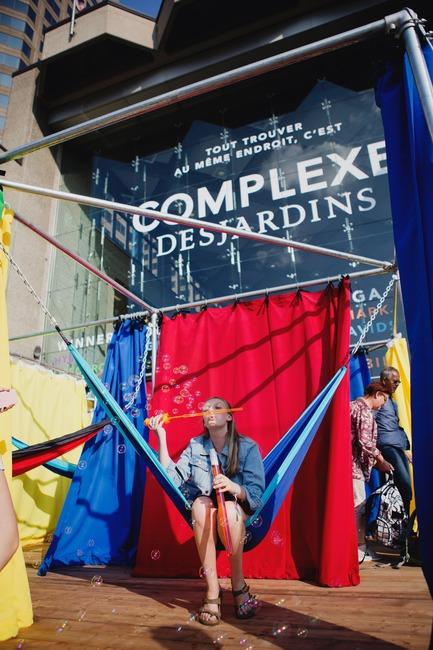 Press kit | 583-18 - Press release | KM3:A New Public Art Event in the Quartier des Spectacles - Quartier des spectacles Partnership - Event + Exhibition -  OPAVIVARÁ! (Brazil) - IN OUT  - Photo credit: Cindy Boyce