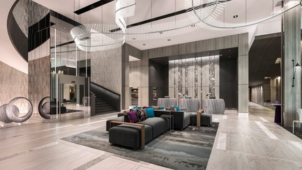 Dossier de presse | 2066-07 - Communiqué de presse | II BY IV DESIGN Creates Place with Art, Rather than Simply a Place for Art - II BY IV DESIGN - Art - Marriott Signature Hotel & Residences - Crédit photo : Norm Li Architectural Graphics