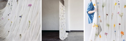 Dossier de presse | 2757-02 - Communiqué de presse | UMÉ Studio Launches Debut Collection of Objects for Everyday Living - UMÉ Studio - Produit - Draped Flower Curtain  - Crédit photo : UMÉ Studio