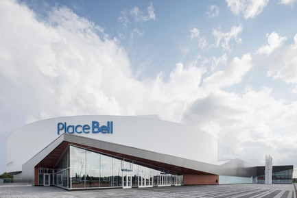 Press kit | 865-28 - Press release | Incontournable, la Place Bell redéfinit le concept d'aréna - Lemay - Architecture commerciale - Entrée de l'amphithéâtre - Photo credit: Adrien Williams