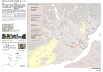 Press kit | 2647-02 - Press release | International Ideas Competition Reinventing Our Rivers: Four Rivers, Three Winners - Ville de Québec - Urban Design -     First place - Headwater - Lot map    - Photo credit:    The CADASTER team