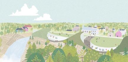 Dossier de presse | 2647-02 - Communiqué de presse | Concours international d'idéesRêvons nos rivières : trois lauréats au concours pour quatre rivières - Ville de Québec - Design urbain -  Troisième prix -Secteur des chutes Kabir Kouba et de Wendake - Crédit photo : L'équipe JOO HYUNG OH