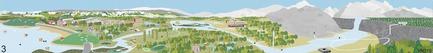 Dossier de presse | 2647-02 - Communiqué de presse | Concours international d'idéesRêvons nos rivières : trois lauréats au concours pour quatre rivières - Ville de Québec - Design urbain -  Troisième prix -Secteur du parc de la Chute-Montmorency - Crédit photo : L'équipe JOO HYUNG OH