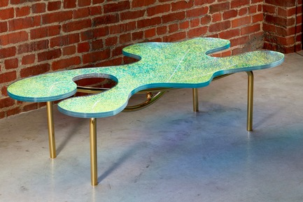 Press kit | 3029-01 - Press release | Designer Troy Smith Embodies the Spirit of Autotelic Art - Troy Smith Designs - Product - Picasso Coffee Table - Photo credit: Troy Smith