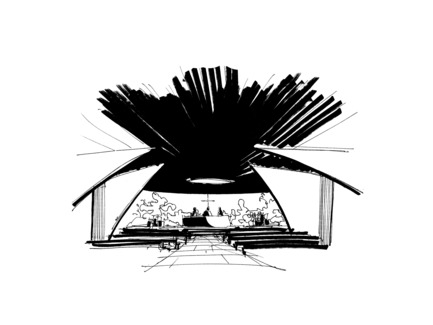 Press kit | 3036-01 - Press release | Our Lady of The Fields - Stanislas Chaillou - Institutional Architecture - Conceptual Drawing - Photo credit: Stanislas Chaillou
