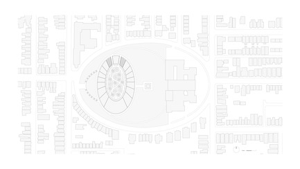Press kit | 3036-01 - Press release | Our Lady of The Fields - Stanislas Chaillou - Institutional Architecture - Site Plan - Photo credit: Stanislas Chaillou