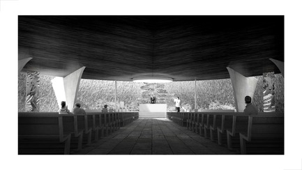 Press kit | 3036-01 - Press release | Our Lady of The Fields - Stanislas Chaillou - Institutional Architecture - Main Altar View - Photo credit: Stanislas Chaillou