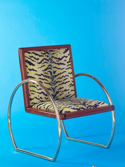 Press kit | 3029-01 - Press release | Designer Troy Smith Embodies the Spirit of Autotelic Art - Troy Smith Designs - Product - D-Ring Lounge Chair - Photo credit: Troy Smith