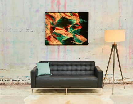 Press kit | 2796-01 - Press release | Big Naked Wall Creates New Art Category with Backlit Frames - Big Naked Wall - Art - This second picture is also showcasing our color changing LED collection. This piece is the exact same as the first picture. However, the backlit color has been changed to display how a picture can be changed just by altering the lighting. - Photo credit: Big Naked Wall