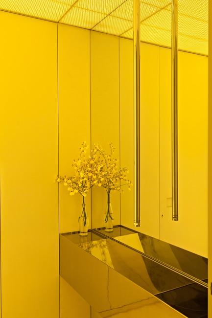 Press kit | 3039-01 - Press release | AQHApartment - Coletivo Arquitetos - Residential Interior Design - Powder Room - Photo credit: RuiTeixeira