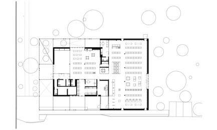 Press kit | 1070-01 - Press release | The Mississauga Public Library Project - RDH Architects - Institutional Architecture - Building Floor Plan of Lakeview Library - Photo credit: RDH