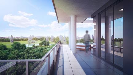 Dossier de presse | 3070-01 - Communiqué de presse | DevMcGill et TGTA remportent un prestigieux Prix INOVA décerné par l'IDU pour leur projet Le Castelnau - DevMcGill - Architecture résidentielle - Penthouse - Crédit photo : DevMcGill