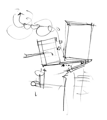 Press kit | 2206-02 - Press release | Complexe sportif Saint-Laurent - Saucier + Perrotte Architectes/HCMA - Institutional Architecture -  Conceptual sketch <br> - Photo credit:  Saucier+Perrotte Architectes
