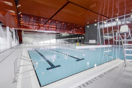 "Press kit | 2206-02 - Press release | ""Complexe sportif Saint-Laurent"" - Saucier + Perrotte Architectes/HCMA - Institutional Architecture - Interior pool - Photo credit: Olivier Blouin"