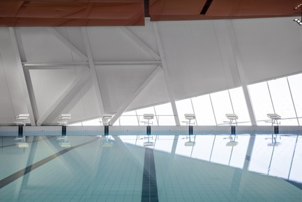 Press kit | 2206-02 - Press release | Complexe sportif Saint-Laurent - Saucier + Perrotte Architectes/HCMA - Architecture institutionnelle - Piscine intérieure<br> - Photo credit: Olivier Blouin