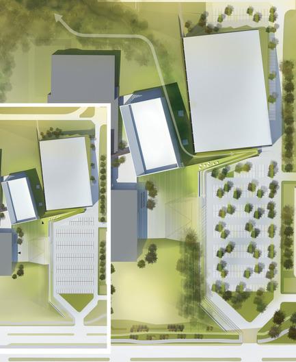 Press kit | 2206-02 - Press release | Complexe sportif Saint-Laurent - Saucier + Perrotte Architectes/HCMA - Institutional Architecture - Plan - Photo credit:  Saucier+Perrotte Architectes