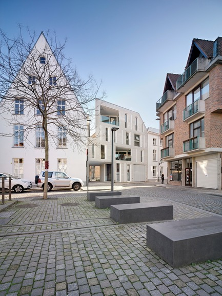 Press kit | 2779-01 - Press release | Lorette Convent - Apartments Drabstraat - dmvA - Urban Design -  Hooghuys (left,) Apartments DRBSTR / Melano (right)  - Photo credit: Bart Gosselin