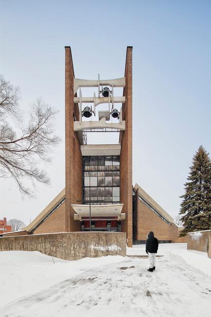Press kit | 865-29 - Press release | Dernier hommage à l'architecte visionnaire fondateur de Lemay - Lemay - Commercial Architecture - Church of Saint-Jean-Baptiste-de-la-Salle - Lemay -Montréal, Québec, Canada, 1967 - Photo credit: Alexandre Guilbeault