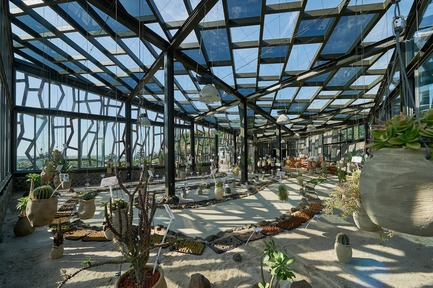 Dossier de presse | 3092-01 - Communiqué de presse | Cactus Park in Taiwan Draws Architectural Inspiration from Prickly Succulents - CCL Architects & Planners - Landscape Architecture - Big cactus greenhouse interior - Crédit photo : CCL Architects & Planners