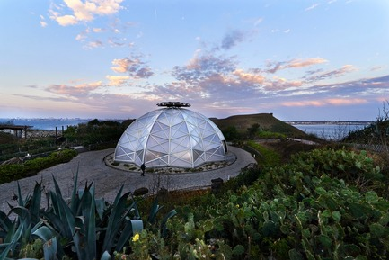 Dossier de presse | 3092-01 - Communiqué de presse | Cactus Park in Taiwan Draws Architectural Inspiration from Prickly Succulents - CCL Architects & Planners - Landscape Architecture - Echinocactus grusonii cactus greenhouse - Crédit photo : CCL Architects & Planners