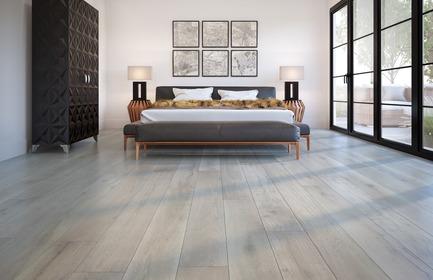 Dossier de presse | 3063-01 - Communiqué de presse | CorkWood : un plancher aux multiples atouts conçu pour le confort - TORLYS - Produit - CorkWood Designer, Grey Fairwinds           Oak, CW-DS702-FSC-MX - Crédit photo : TORLYS