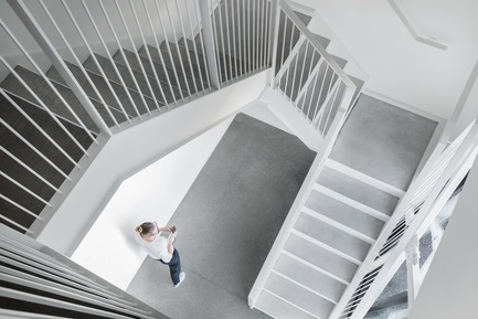 Press kit | 3010-01 - Press release | Standing in the Middle of the Field - Maurice Martel architecte - Commercial Architecture - Stairwell - Photo credit: Adrien Willilams