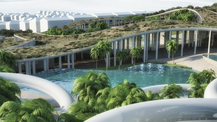 Dossier de presse | 3053-01 - Communiqué de presse | Tetusa Oasis Resort - ENOTA - Commercial Architecture - Perspective view 09 - Crédit photo : ENOTA