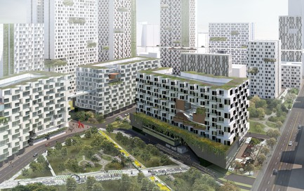 Dossier de presse | 2560-02 - Communiqué de presse | A 58 km2 Visionary Master Plan, Jakarta Jaya: the Green Manhattan, Wins a WAFX Prize - SHAU - Urban Design -         Integrated high quality affordable housing - Crédit photo : @shauarchitects