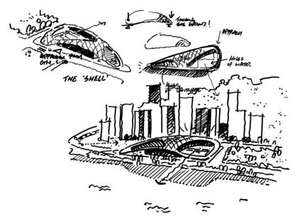 Dossier de presse | 1474-01 - Communiqué de presse | Hong Kong's Kennedy Town Swimming Pool - Farrells - Commercial Architecture - Design concept sketches - Crédit photo : Farrells