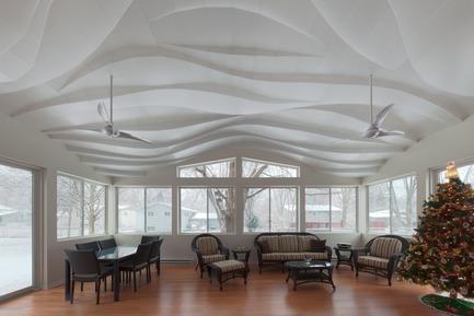 Press kit | 3072-01 - Press release | Light Arrival - Flynn Architecture & Design - Lighting Design - View east, winter daylight<br> - Photo credit:  Matt Flynn
