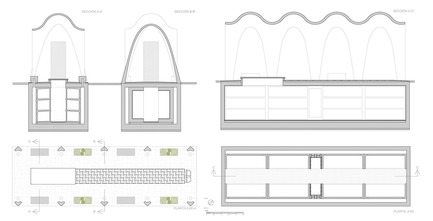 Dossier de presse | 3109-01 - Communiqué de presse | Mortuary Chapel for the Soriano-Manzanet Family - Vegas&Mileto - Art - Mortuary chapel. Plans - Crédit photo : Vegas&Mileto