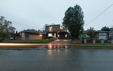 Press kit | 3057-01 - Press release | Flipped House - Atelier RZLBD - Residential Architecture - Flipped House, main elevation - Photo credit: Borxu