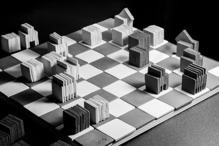 Press kit | 2350-02 - Press release | Elena Vandelli Ηandcrafted Design - Elena Vandelli, Architect and Designer - Fashion Design - Ceramic Chess, a game is under way<br> - Photo credit: @ George Messaritakis