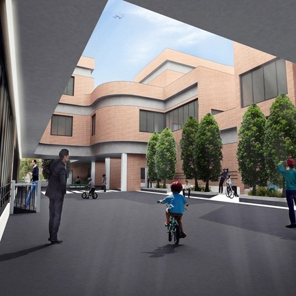 Press kit | 3042-01 - Press release | Tehran Educational Complex for Students with Special Needs - Arezou Zaredar - Competition - Tehran Educational Complex for Students with Special Needs - Public Yard - Photo credit: Arezou Zaredar