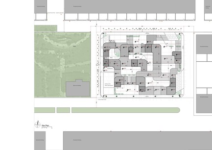 Press kit | 3042-01 - Press release | Tehran Educational Complex for Students with Special Needs - Arezou Zaredar - Competition - Tehran Educational Complex for Students with Special Needs - Site Plan - Photo credit: Arezou Zaredar