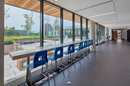Press kit | 2681-01 - Press release | The Greenwood College School Expansion - Montgomery Sisam Architects Inc. - Institutional Architecture - Informal Student Space - Photo credit: Shai Gil