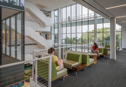 Press kit | 2353-02 - Press release | Innovative and Award-Winning Facade of USF-SP's Tiedemann College of Business Recalls Native Coral in Ecofriendly Envelope - ikon.5 architects - Institutional Architecture - typical classroom - Photo credit: Brad Feinknopf