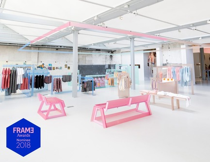 Press kit | 3160-01 - Press release | Announcing the Nominees of the Frame Awards 2018 - Frame - Competition - Nominated for Pop-up Store of the Year Esprit X Opening Ceremony by NOMAN Studio <br> - Photo credit: Team Peter Stigter